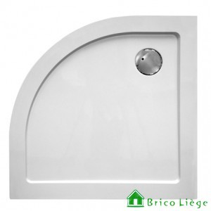 Tub de douche quart de rond composite synthétique blanc 90x90x3,5 cm