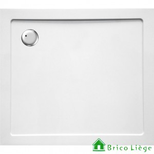 Tub de douche en composite synthétique blanc - HELION 100x90x3,5 cm