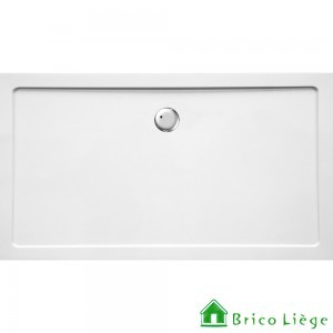 Tub de douche en composite synthétique blanc - HELION 160x90x3,5 cm