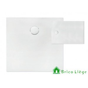 Tub de douche en solid surface blanc  90x90x3,5 cm - PROTON