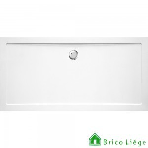 Tub de douche en composite synthétique blanc - HELION 180x90x3,5 cm