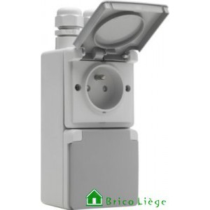 Prise double hydro verticale IP55