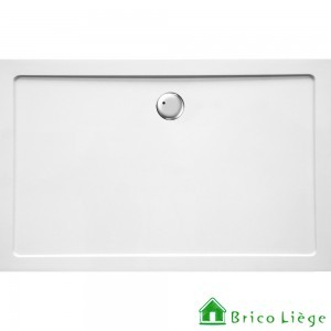 Tub de douche en composite synthétique blanc - HELION 140x90x3,5cm