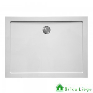 Tub de douche en composite synthétique blanc - HELION   140x80x3,5 cm