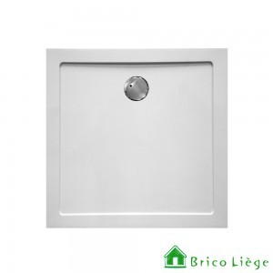 Tub de douche en composite synthétique blanc - HELION  90x90x3,5 cm